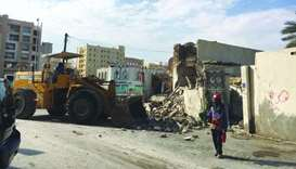 Old, dilapidated buildings demolished in Doha