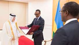 Rwandan president receives credentials of Qatari envoy