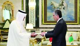 Turkmenistan president receives credentials of Qatari envoy