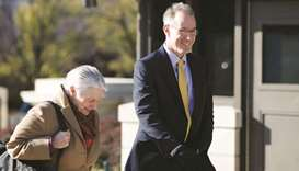 Mark Sandy from the Office of Management and Budget, arrives for a closed-door deposition as part of