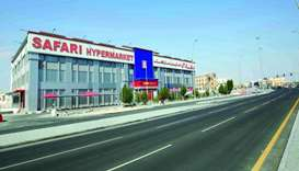 The new hypermarket with four floors is spread across about 193,000sq ft.