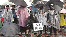 Protesters are seen during clashes with police outside Hong Kong Polytechnic University (PolyU) in H