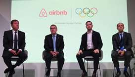 (L-R) International Olympic Committee (IOC) Managing Director Timo Lumme, IOC President Thomas Bach,