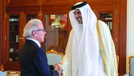 Amir meets governor of Bank Al Maghrib