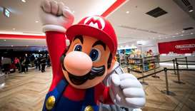 Nintendo game character Mario displayed