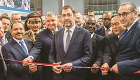 Dignitaries at the opening of Milipol 2019 expo in Paris.