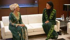 Her Highness Sheikha Moza bint Nasser, Chairperson of Qatar Foundation, and Chairperson of Education
