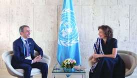 Culture minister meets Unesco Director-General