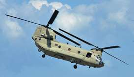 US Chinook helicopter.