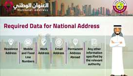 Data required to register national address