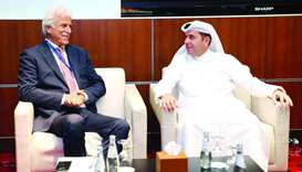 HE the Minister of Education and Higher Education Dr Mohamed Abdul Wahed Ali al-Hammadi meeting Marw