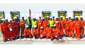 GWC Ras Laffan facility celebrates '730 days without Lost Time Injury'