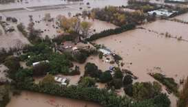 An aerial view of flooded areas following heavy rains in Le Luc, southeastern France. AFP/FRENCH CIV
