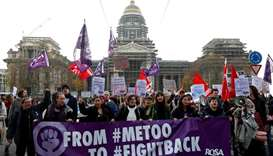 Thousands in Brussels protest violence against women