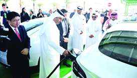 Kahramaa launches vehicle charging, energy storage station