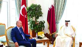 His Highness the Amir Sheikh Tamim bin Hamad al-Thani meeting with Turkish President Recep Tayyip Er