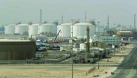 This file photo taken on February 6, 2017 shows the Ras Laffan Industrial City