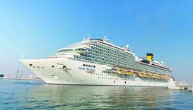 Costa Diadema docked at at Doha Port.