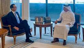 Finance Minister receives US Treasury Secretary