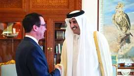 Amir meets US Treasury Secretary
