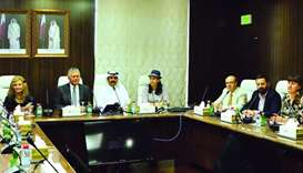 Qatar Chamber second vice-chairman Rashid bin Hamad al-Athba in a meeting with the Greece-Qatar Busi