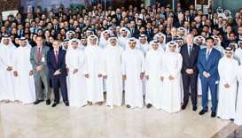 HE al-Kaabi with Abdulla and the Muntajat team in Doha. During a visit to Muntajat, the marketing ar