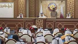His Highness the Amir Sheikh Tamim bin Hamad Al-Thani inaugurates the 48th ordinary session of the A