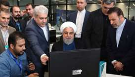 President Hassan Rouhani speaking during the opening of a factory in the capital Tehran