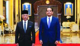 King of Malaysia meets FM