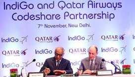 Qatar Airways, IndiGo sign codeshare agreement