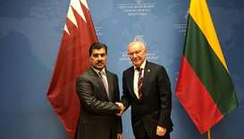 HE the Secretary-General of the Ministry of Foreign Affairs Dr Ahmad bin Hassan al-Hammadi and Lithu