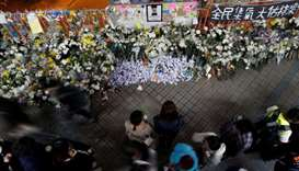 Hong Kong vigils for dead student turn to street violence