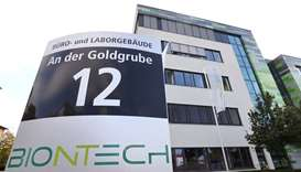 The headquarters of biopharmaceutical company BioNTech are seen in Mainz, Germany