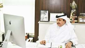 Qatar Chamber chairman Sheikh Khalifa bin Jassim al-Thani during the meeting.