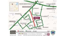 During the closure, road users are required to use surrounding streets such as Al Senbouk, Wadi Al M