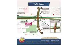 Mall Intersection closed for 5 months for D-Ring Road development works