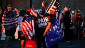 Supporters of US President Donald Trump gather for a 'Stop the Steal' protest after the 2020 US pres