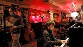 The Ryan Slatko Trio performs at Rue-B, a live jazz bar in the Alphabet City neighborhood of Manhatt