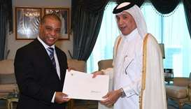 Minister of State for Foreign Affairs receives copies of credentials of ambassadors