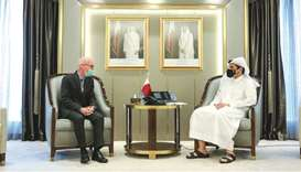 During the meeting, they reviewed the bilateral relations between Qatar and the United Nations and S