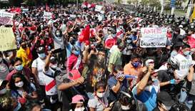 Peru's interim president resigns after protest deaths spark fury