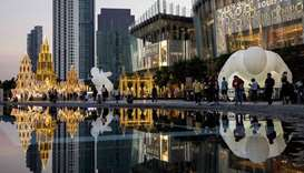 Installations at the Iconsiam shopping mall in Bangkok