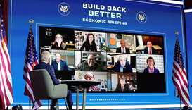 US President-elect Joe Biden receives virtual briefing on the economy with his economic advisers in