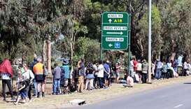 People are seen queuing at a coronavirus disease (COVID-19) testing site as the state of South Austr