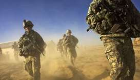 Soldiers out on a patrol in Paktika province, situated along the Afghan border (file photo)