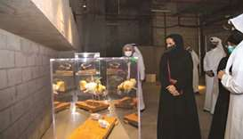 HE Sheikha Al Mayassa bint Hamad bin Khalifa al-Thani at the opening of 'Outbreak'.