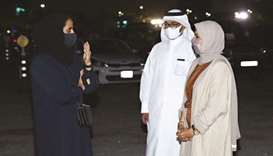 DFI chairperson HE Sheikha al-Mayassa bint Hamad bin Khalifa al-Thani and DFI CEO and Ajyal Film Fes