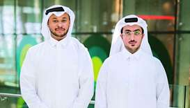 Mohamed Suleiman and Abdulaziz al-Marry of Karty, which took first place during Demo Day.