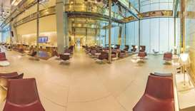 Views of the dedicated Mariner Lounge at Hamad International Airport.