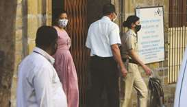Comedian Bharti Singh is escorted by Narcotics Control Bureau officers for a medical examination alo